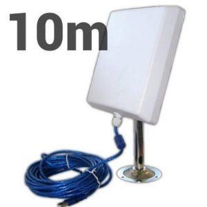Antena wifi con soporte metálico