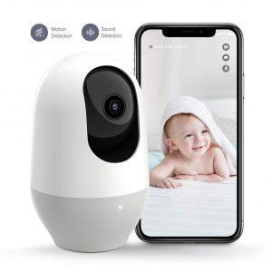 Cámara de vigilancia para bebés con micro y altavoz