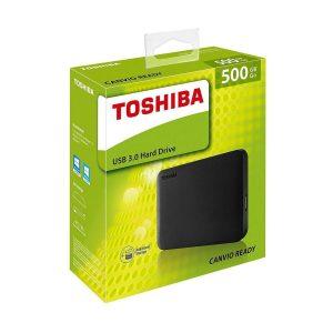 Disco Duro Externo de 500 GB negro