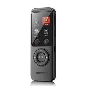 Grabadora con visor de fotos y baterías recargables
