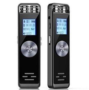 Grabadora reproductora con dos micrófonos y audio HD