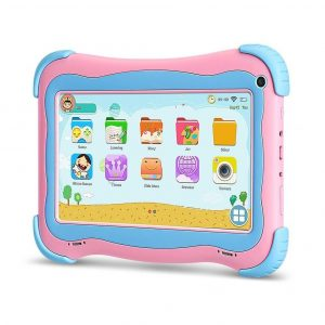 Tablet para niños rosa y azul