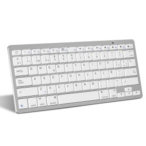 Teclado bluetooth blanco